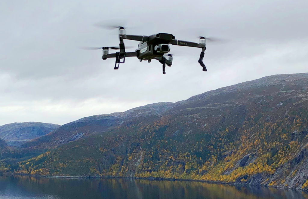 Drone over Foldafjorden